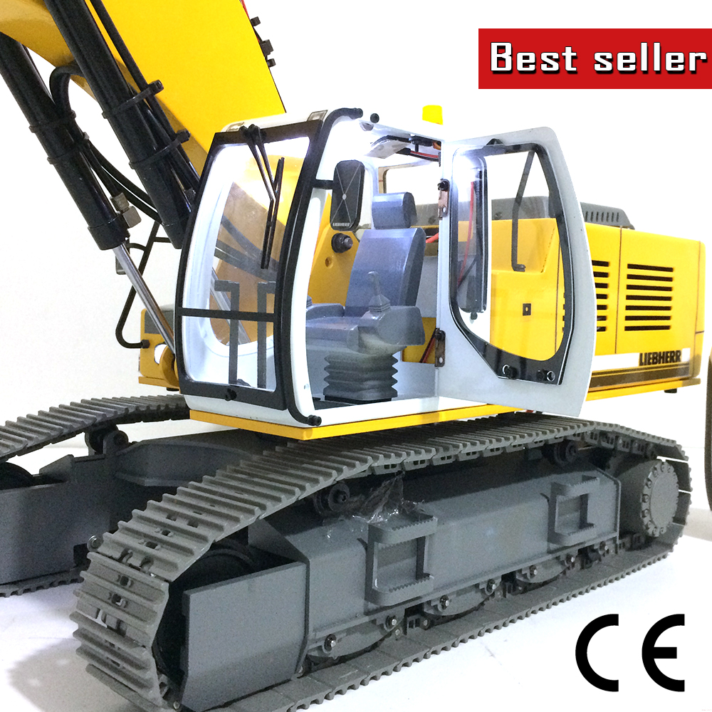 Trend Mark Rc Car 1:16 Rc Bulldozer 2.4g 9ch Remote Control Bulldozer Excavation Truck Toys Engineering Model Vehicles For Kids Gifts Toys & Hobbies