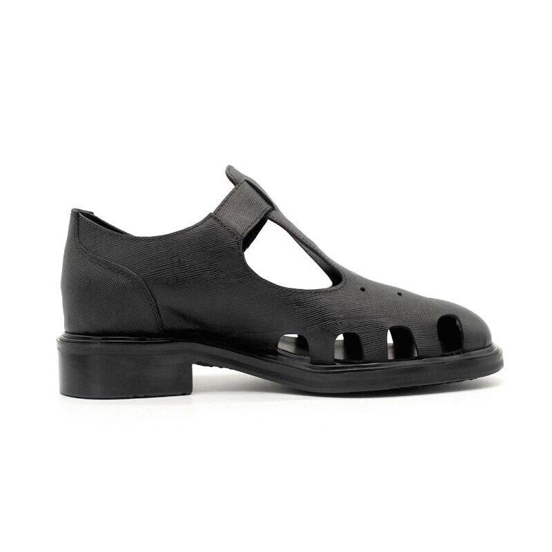 Mens Superior Hebilla Estilo Tacones Verano Nuevo 2019 Cuero Retro Vestido Photo As Sandalias Pista Genuino Calidad Zapatos De Hueco fxqwPHP
