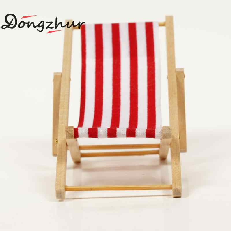 Terrific Dongzhur New Mini Beach Chair Red Blue White Striped 1 12 Dollhouse Wooden Doll House Practical Cute Outdoor Loungers Wwp3911 Caraccident5 Cool Chair Designs And Ideas Caraccident5Info