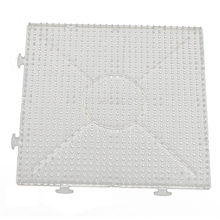 4pcs ABC Clear 145x145mm Square Large Pegboards Board for Hama Fuse Perler Bead(China)