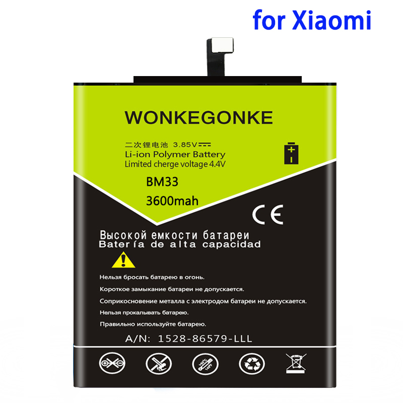 WONKEGONKE 3600mah BM33 <font><b>battery</b></font> For XIaomi Mi4i <font><b>Battery</b></font> <font><b>Mi</b></font> <font><b>4i</b></font> M4i cell phone Batterie Bateria image