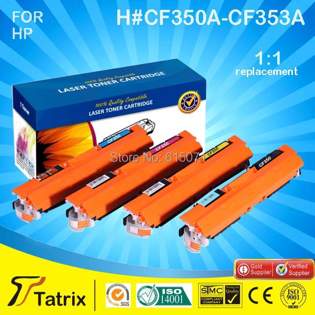 ФОТО The Cheapest Price Wholesale CF350A Series /350A-353A Laser Printer Toner Cartridge For HP CF350A/CF351A/CF352A/CF353A