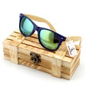 2015 New Women Fashion Coated Sunglasses Polarized Bamboo Wood Holder Sun Glasses With Retail Wood Case Cool Beach Sunglasses