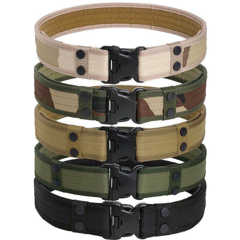 Tactical   Belt   Men's Military   Belts   Army Thicken Canvas Tactical Outdoor Waistband Adjustable Hunting Emergency Rigger Survival