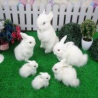 6 قطع لطيف لينة محاكاة الحيوان أرنب أفخم اللعب أرنب دمية بالجملة
