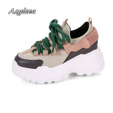 2018 Spring Autumn Women Casual Shoes Comfortable Platform Shoes Woman Sneakers Ladies Trainers chaussure femme  w21