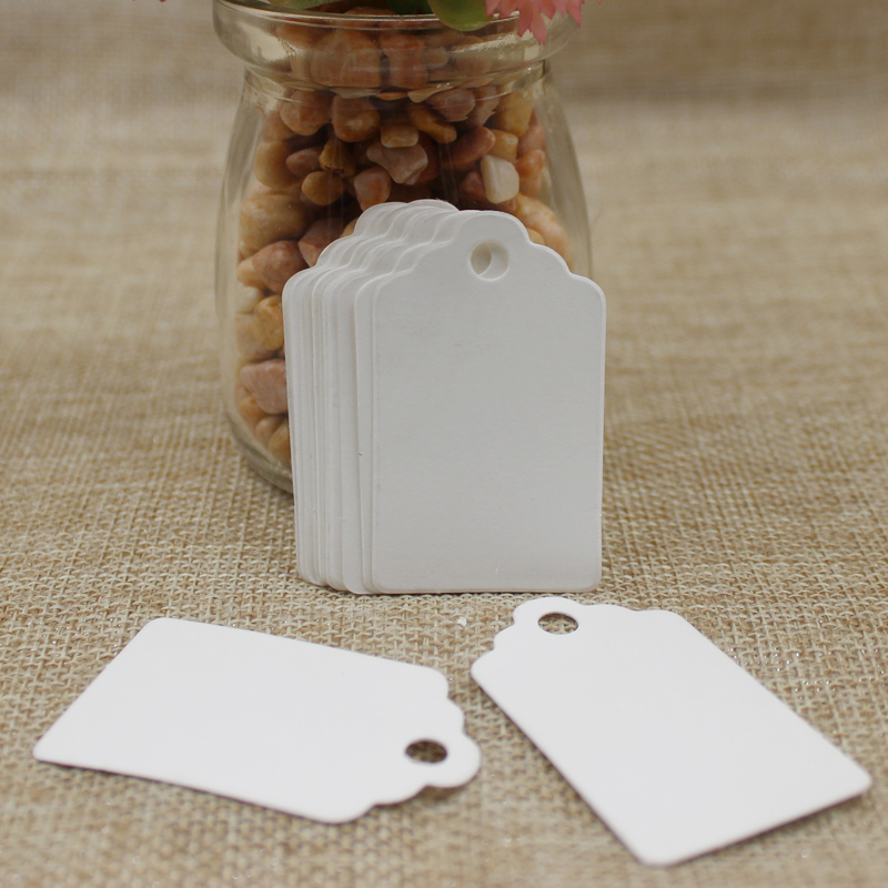 New 1000Pcs DIY Blank price Hang tag Kraft/white/purple/navy color Paper Tags Label Luggage Wedding Note card tag 5*3cm