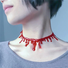 3PC/lot Halloween Props Bloody Necklace Cut Neck