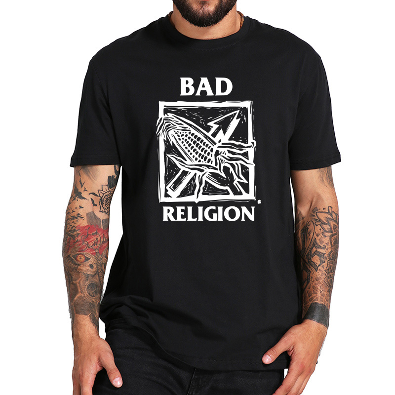 EU Size 100% Cotton   T     Shirt   Bad Religion Men's Against The Grain Punk Rock Tshirts Comfortable Round Neck Casual   Shirts