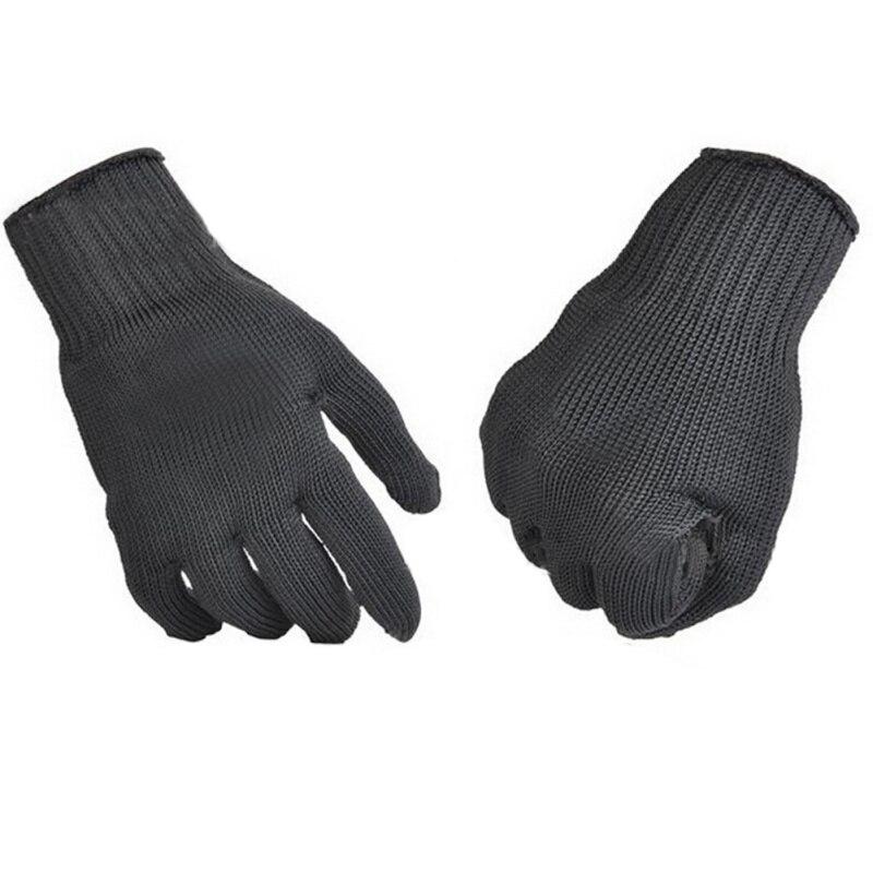 Mens Steel Wire Fishing Fillet Gloves Cut Resistant Thread Weave Tool GlovesJJPS