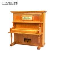 DUH 2016 Diseño de Moda Restauración de Piano de cola Caja De Música Para El Regalo del Día de San Valentín De Madera Forma de Rectángulo De Madera de Música de Piano caja