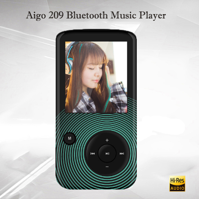 AIGO 209 Lossless Music Player Audio Hifi Mp3 Player Bluetooth Portable Flac Player Hi-res Reproductor Mp3 Bluetooth 32GB aigo золотой 32gb