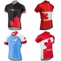 NIEUWE 4 Stijlen Canada Nationale Vlag Zomer Wielertrui Mannen MTB Weg Fietsen Kleding Korte Mouw Fietsen Draagt Ciclismo Maillot