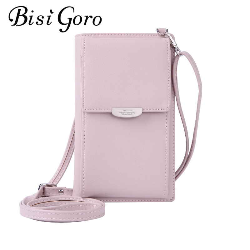 Bisi Goro 2019 New Wallet Small Japanese Fresh Mobile Phone Bag Single-shoulder Cross Bag Large Capacity Square Bag For Women