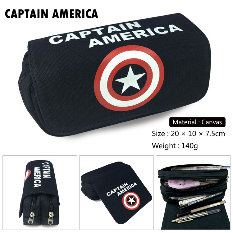 OHCOMICS Hot For Avengers Infinity War Captain America Pencil Bag Pencil Case Box Study School Learning Appliance Accessory