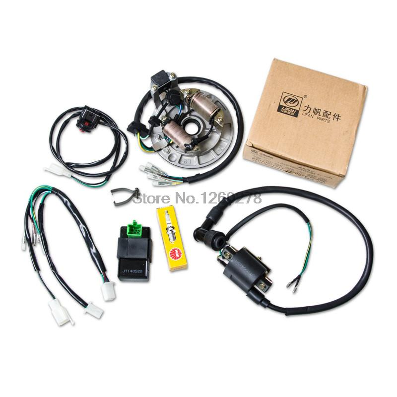 motorcycle cdi coil stator magneto plug for 70cc 140cc lifan loncin yx bikes kill switch ngk spark plug wire harness in motorbike ingition from rh aliexpress com