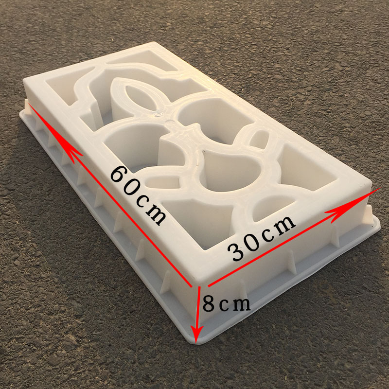 DIY Antique Wall Flower Window Mould Garden Pavement Plastic Path Mould Paving Cement Stone Brick Mould