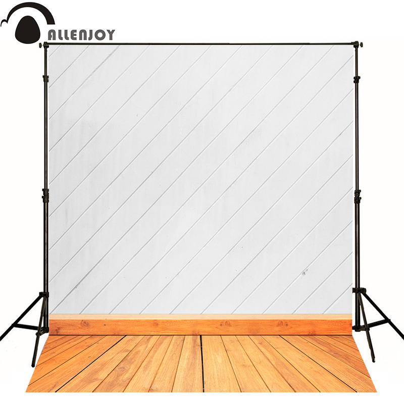 AllEnjoy photography backdrops White brown wooden floor wall kids photo backgrounds send rolled Computer printing interesting allenjoy photography backdrops neat wooden structure wooden wall wood brick wall backgrounds for photo studio