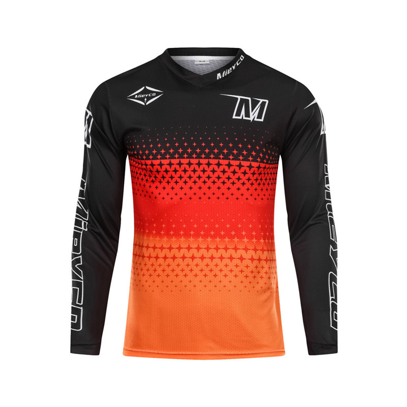 Men's Comfortable Downhill Jersey MTB Mountain Bike Clothes DH MX Motorcycle Off Road clothing motocross Racing Sports Wear