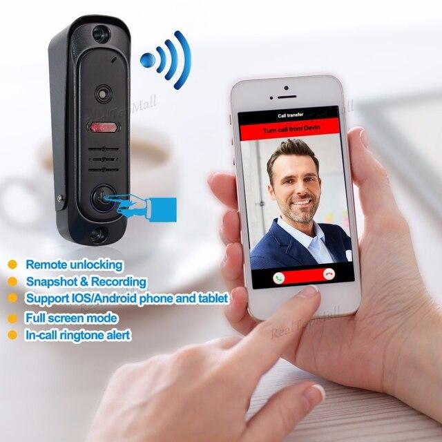 Dual Way Intercom Wireless Wifi Video Doorphone Door Entry Security