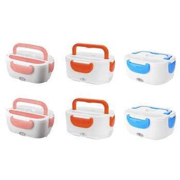 220 V/110 V Lunch Box Contenitore di Alimento Portatile Riscaldamento Elettrico Più Caldo Cibo Riscaldatore di Riso Contenitore di Set per apparecchiare per la Casa auto