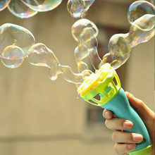 New Electronic Automatic Bubble Gun Kids Outdoor Beach Small Round Bubbles Makes Toy