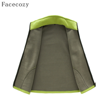 Facecozy Women&Men Autumn Outdoor Fleece Vest Winter Couples Stand Collar Windproof  Fishing Vests