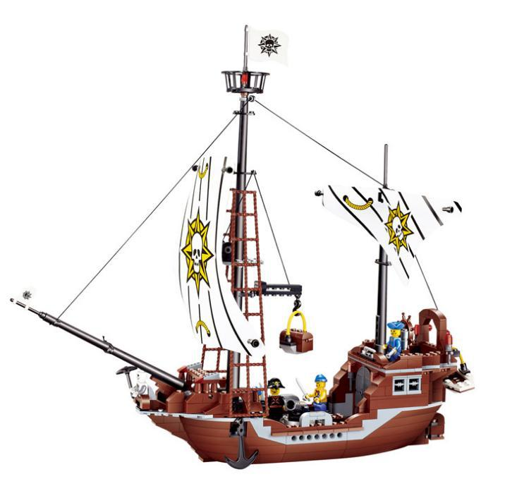 Pirates of the Caribbean Avenger boat 3D Model Building Blocks Sets Kids Education Toys Compatible with Legominifiguren Stock 8pcs lot movie super hero 2 avenger aochuang era kid baby toy figure building blocks sets model toys compatible with lego