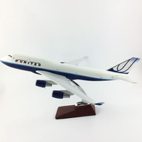 AIRLINES 45 47CM UNITED 747 METAL ALLOY MODEL PLANE AIRCRAFT MODEL TOY AIRPLANE BIRTHDAY GIFT