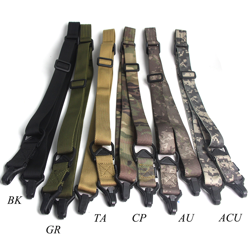 Hunting Dual Two 2 Points Rifle Sling Adjustable Nylon Multi-function Gun Strap Airsoft  ...