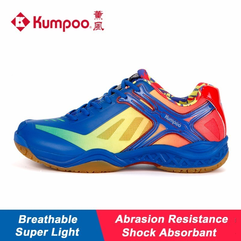 2017 New Kumpoo Badminton Shoes for Women and Men Breathable Antiskid Shock Absorbant Athletic Sports Sneakers