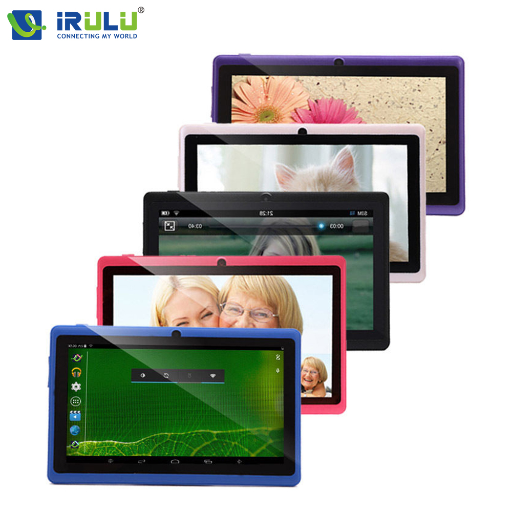 ФОТО Original iRULU eXpro X1 7'' Tablet PC 8G/16G ROM A33 Quad Core Android 4.4 Tablet Dual Camera OTG Wifi Multi-colors Hot