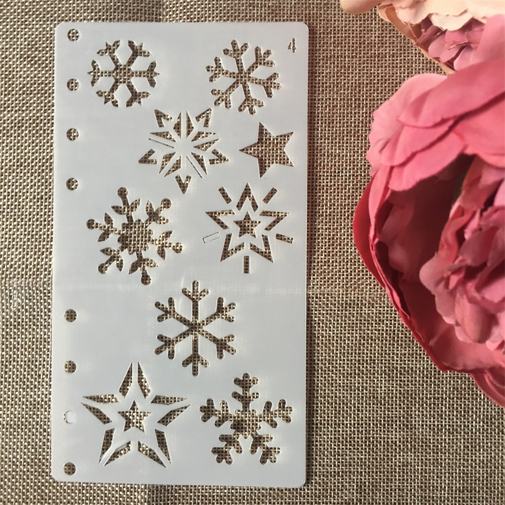 1Pcs A6 Snowflake Snow DIY Craft Layering Stencils Wall Painting Scrapbooking Stamping Embossing Album Paper Card Template