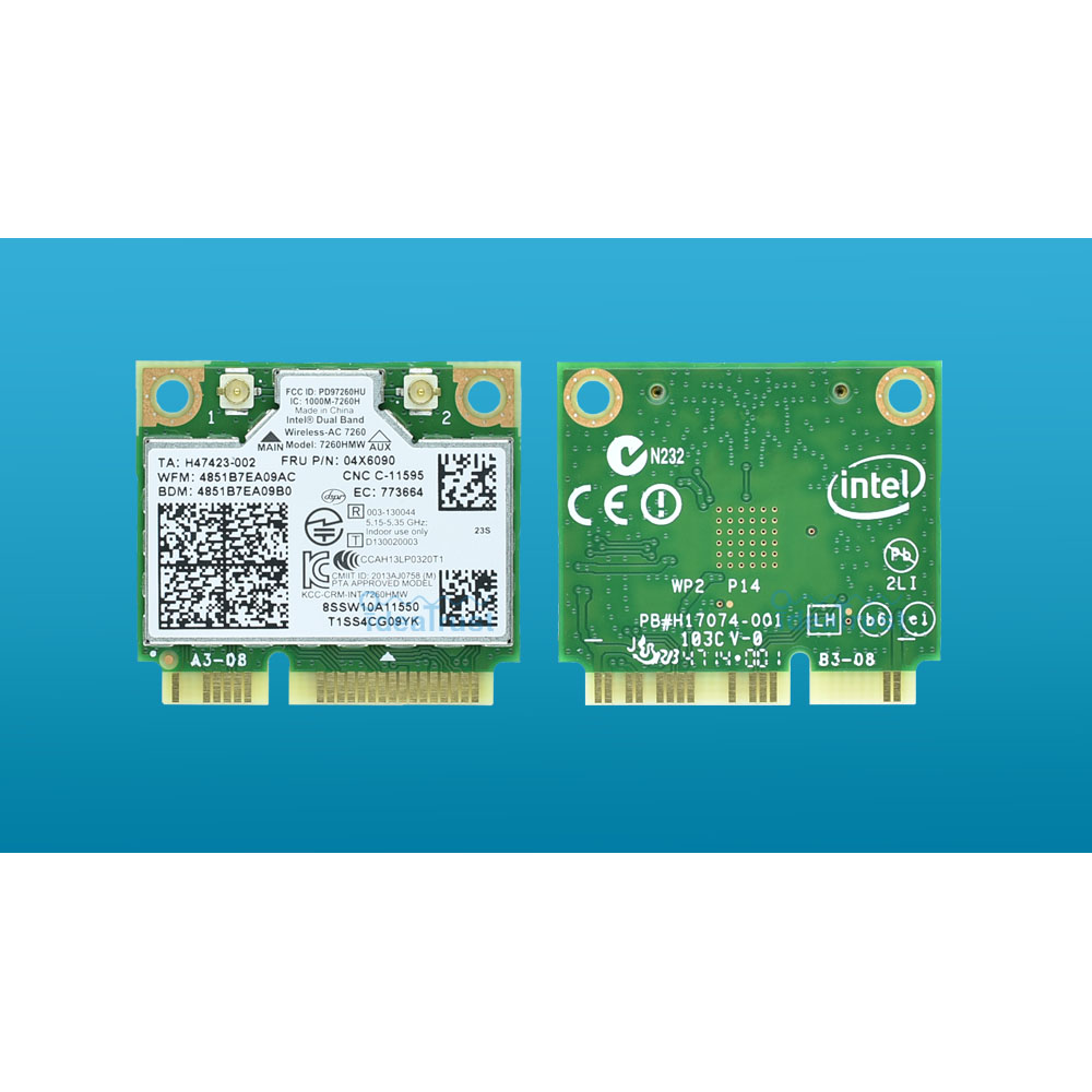 New Intel 7260HMW FRU 04X6090 7260 ac 7260ac Mini Bluetooth 4.0 WiFi Network Card for lenovo S310 S410 S410P M440 FLEX E93z