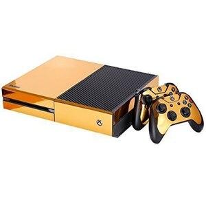 Image 3 - Autocollant de peau brillant or pour contrôleur de Console Xbox ONE + vinyle autocollant Kinect Compatible avec console Xbox One