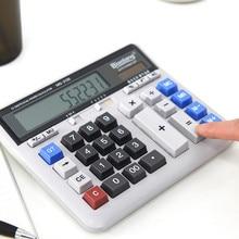 M&G Business Office Calculator Large Solar Dual Power Supply Keyboard Desktop Calculator rjsq5 silicone solar calculator 5pcs colorful calculator
