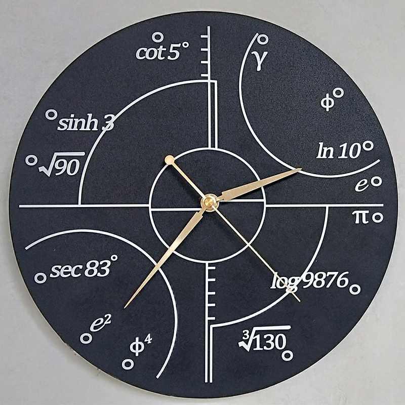 Matemática avançada números irracionais relógio de parede ciência matemática arte da parede moderno relógio de parede sala de aula decoração professores gif