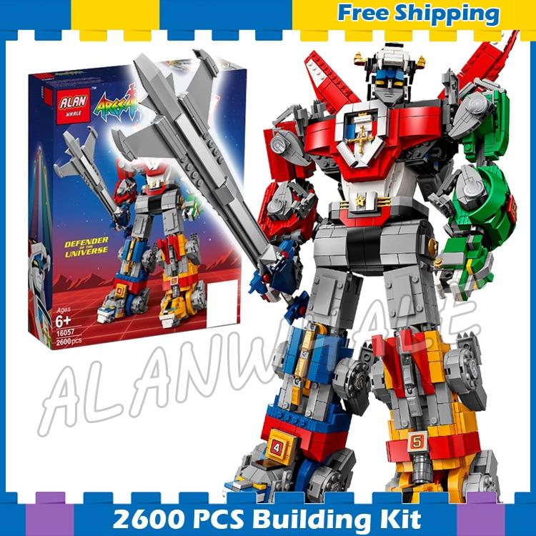 цены 2600Pcs Ideas Voltron Legendary Lion Robots Transformation Universe 16057 Model Building Blocks Gifts sets Compatible With lego