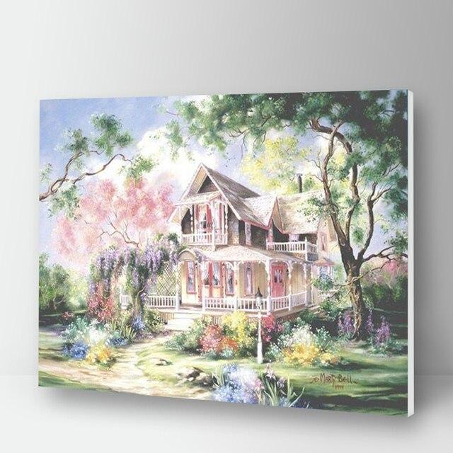 Peinture à numéros, maisonnette en été 10