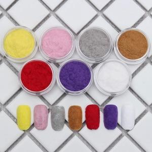 Image 2 - 10Ml Fuzzy Flockingฝุ่นที่มีสีสันสำหรับDIYเล็บตกแต่งคริสต์มาสกำมะหยี่เล็บGlitterผงสำหรับเล็บ