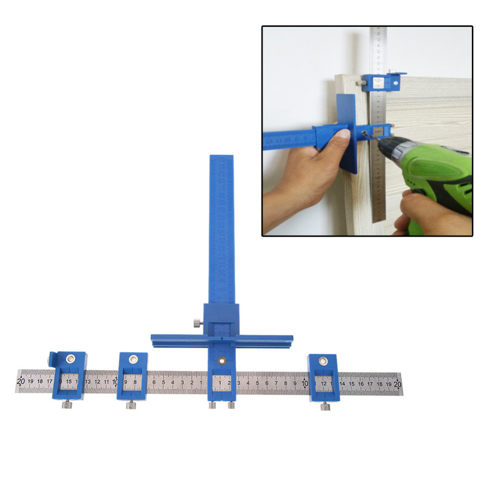 New Punch Locator Drill Guide Woodworking Cabinet Hardware Drawer Pull Jig Wood Drilling Dowelling Hole Saw Master System tool daniu 1pc drill guide sleeve cabinet hardware jig drawer pull jig wood drilling dowelling woodworking tool new