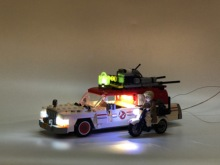 75828 16032 Movie Series The Ghostbusters Ecto 1 & 2 DIY LED Light Set Toys Educational  Brick Compatible IEGOset