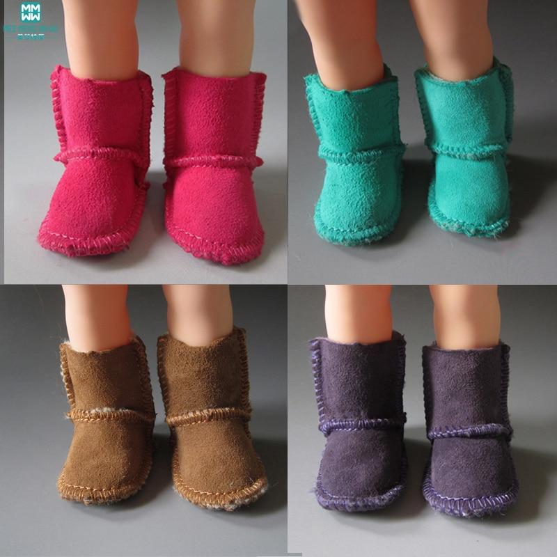 Ботуши за овча кожа 7см Обувки за кукли 1/4 BJD Кукла и 16 инча 40 см Шарън (без картонени кутии)