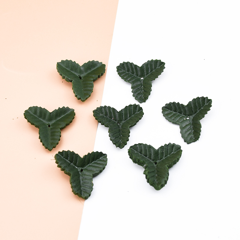 200pcs Fake Leaves Christmas Decor For Home Wedding Diy Gifts Box Decorative Flowers Wreaths Silk Green Leaf Artificial Plants