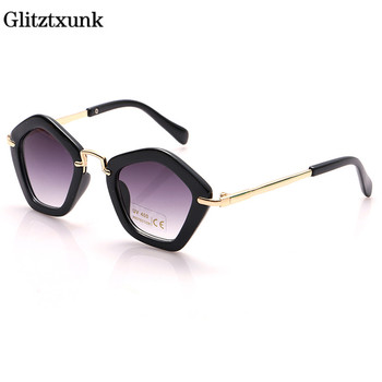 Glitztxunk czarny moda okulary przeciwsłoneczne dla dzieci dla dziewczynek UV400 2018 okulary przeciwsłoneczne dla dzieci chłopcy dziewczyny dziecko okulary gogle okulary sportowe okulary tanie i dobre opinie 53mm Z poliwęglanu Anti-odblaskowe 1023 47mm Akrylowe