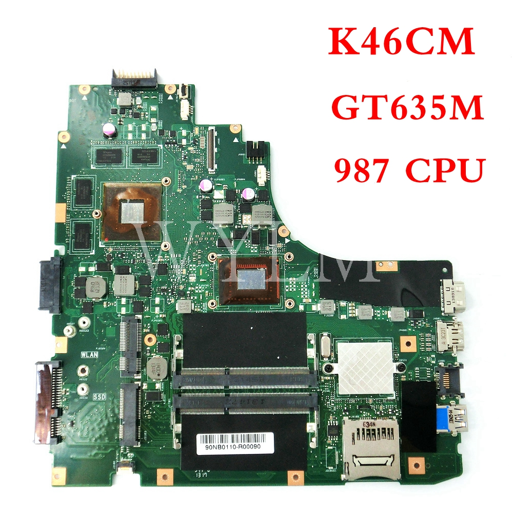 все цены на K46CM With 987CPU GT635M 2GB mainboard For ASUS A46C K46C K46CB K46CM laptop motherboard 100% Tested Working Well