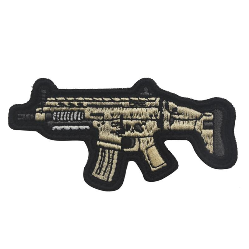3D PVC Rubber Cute Rifle Gun Military Tactical Morale Army Hook Patch