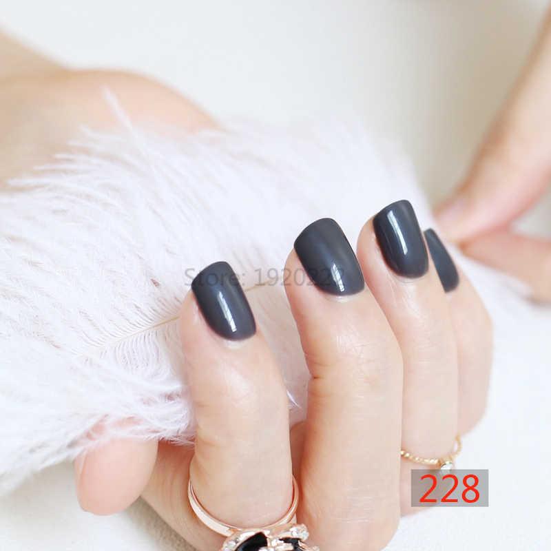 2020 hot sprzedam Sexy kobieta cukierki moda fałszywe paznokcie krótka okrągła końcówka wskazówka szary N228