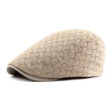 Spring Summer Sun Cap Hats for Men Women Striped Cotton Bere