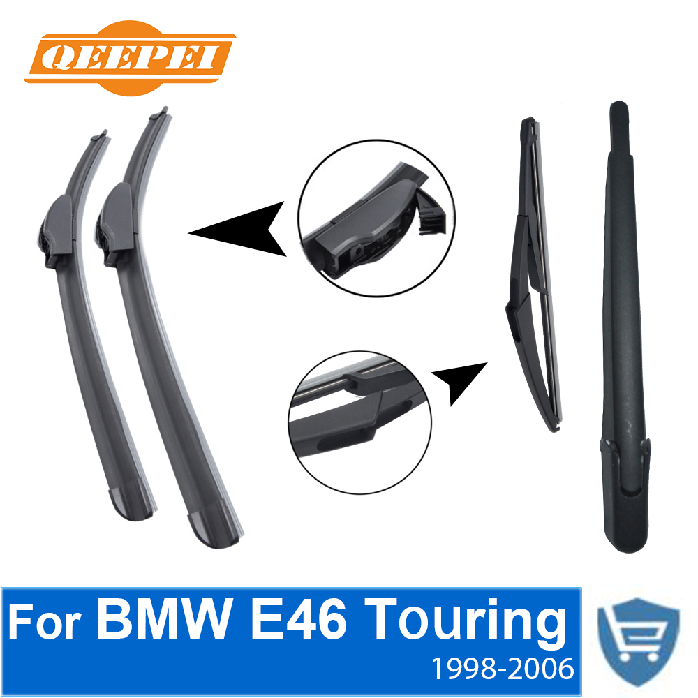 Qeepei front and rear wiper blade arm for bmw e46 1998 2006 5 door touring